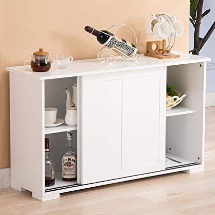 Amazon.com - Mecor Sideboards and Storage Cabinet, White Kitchen