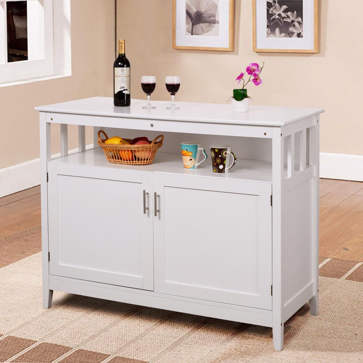 GHP White MDF & Pine Wood Modern Space-Saving Kitchen Storage