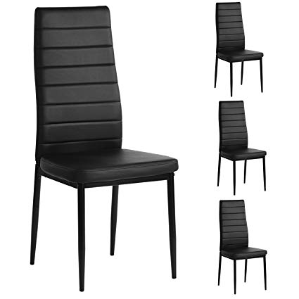 Amazon.com: Aingoo Kitchen Chairs Set of 4 Dining Chair Black with