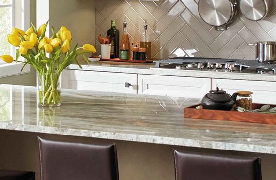 Beautifying kitchen counter   tops