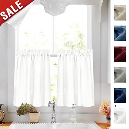 Amazon.com: 36 inch Long Tier Curtains for Kitchen Window Casual