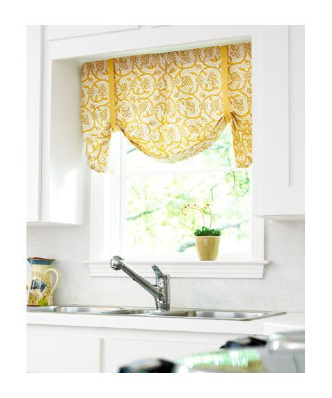 possible idea for kitchen curtains over sink- style prob diff