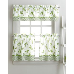 Kitchen Curtains & Valances You'll Love | Wayfair