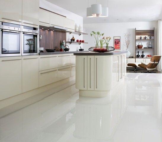 Polished white floor tile £24.92 m. Crazy or good idea? | Marvelous