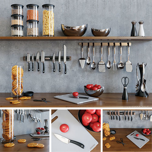 kitchenware Kitchen Set 3D model | CGTrader