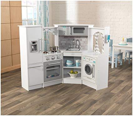 Amazon.com: KidKraft Ultimate Corner Play Kitchen Set, White