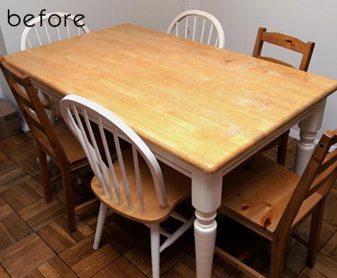 before & after: jamie + brad's kitchen tables u2013 Design*Sponge
