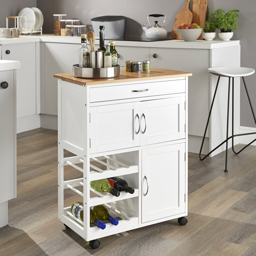 STORE | Kitchen Trolley with Bamboo Top