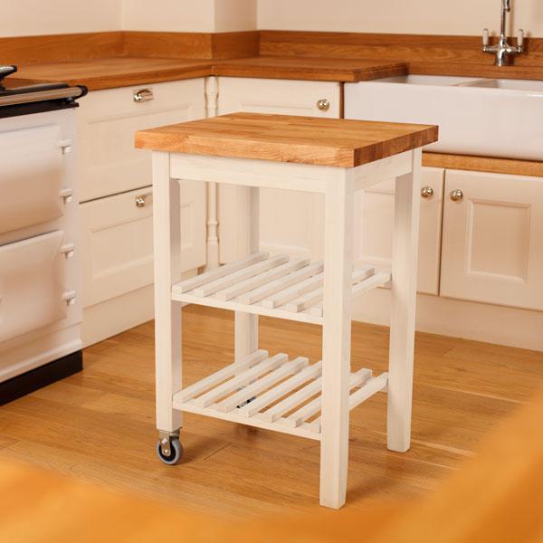 Wooden Kitchen Trolleys & Butcher Block Trolley - Worktop Express