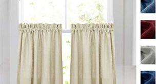 Amazon.com: 36 inch Beige Tier Curtains for Kitchen Window Treatment