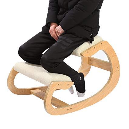 Amazon.com: Ergonomic Kneeling Chair for Upright Posture - Rocking