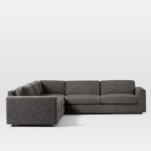 Urban 3-Piece L-Shaped Sectional | west elm