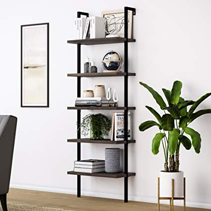 Amazon.com: Nathan James 65501 Theo Wood Ladder Bookcase Rustic Wood