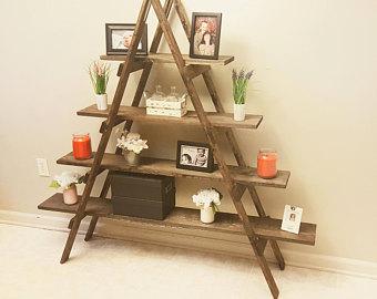 Ladder bookshelf   Etsy
