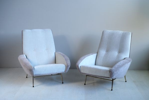 Large Armchairs by Guy Besnard, 1960s, Set of 2 for sale at Pamono