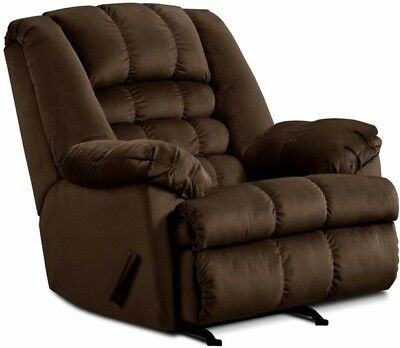 LARGE BROWN ROCKER Recliner Oversized Arm Chairs Recliners Chair BIG