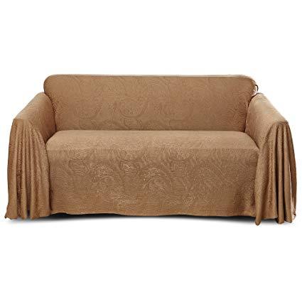 Amazon.com: Stylemaster Alexandria Furniture Throw LARGE SOFA Mocha