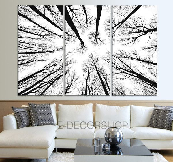 Large Wall Art Canvas Prints - Dry Tree Branches Wall Art Canvas