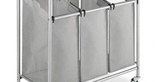 Amazon.com: Whitmor 3 Section Rolling Laundry Sorter with Folding