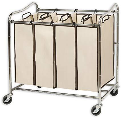 Amazon.com: Simplehouseware 4-Bag Heavy Duty Rolling Laundry Sorter