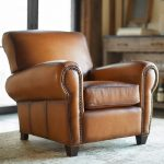 Use a leather armchair for   your living room furniture