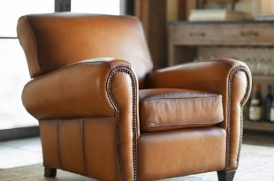 Manhattan Leather Armchair with Nailheads | Pottery Barn