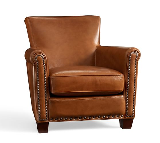 Leather Armchairs   Pottery Barn