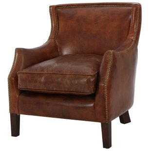 Vintage Leather Armchairs   Wayfair