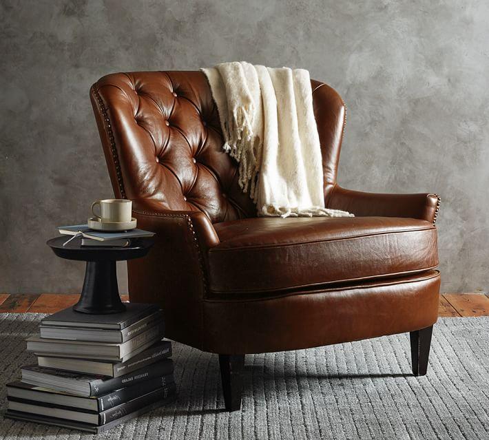 Cardiff Leather Armchair | Pottery Barn