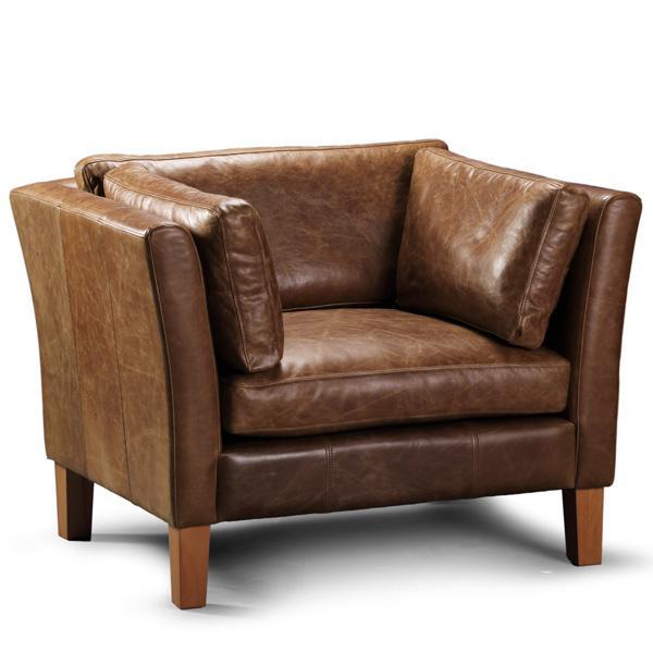 Barkby Leather Armchair   Modish Living
