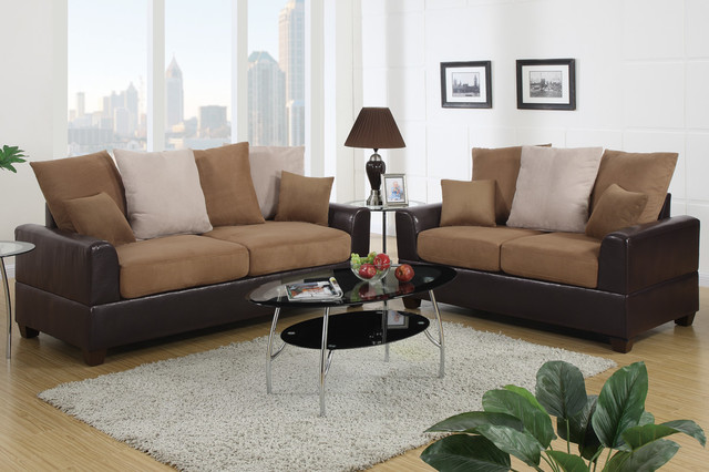 Saddle Microfiber Leather Sofa Couch Loveseat Living Room Pillow