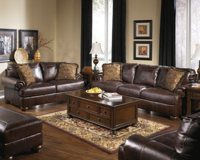 Buy Ashley Furniture Axiom Leather Sofa and Loveseat online | eBay