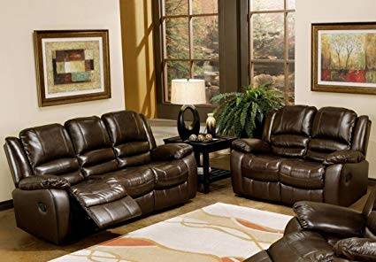 Amazon.com: Abbyson Living Levari Reclining Leather Sofa And