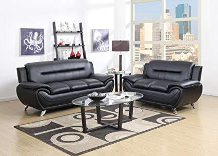 Amazon.com: GTU Furniture Contemporary Bonded Leather Sofa