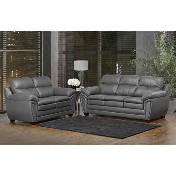 A selection of leather couch   and loveseat sets will beautify your home