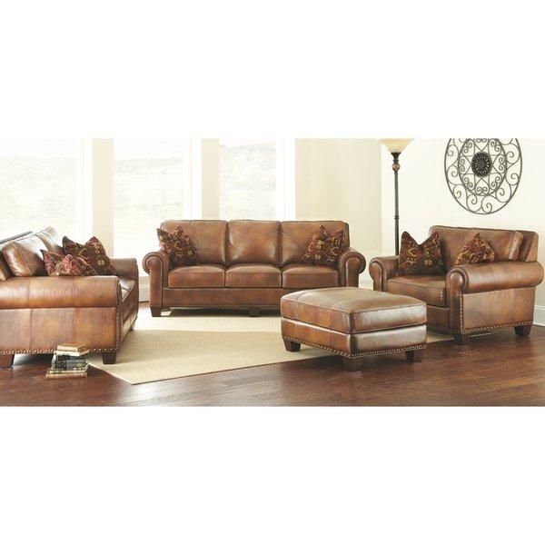 Shop Sanremo 4-Piece Top Grain Leather Sofa Set by Greyson Living