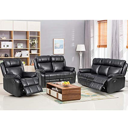 Amazon.com: BestMassage Sofa Set Recliner Sofa 3 PCS Motion Sofa