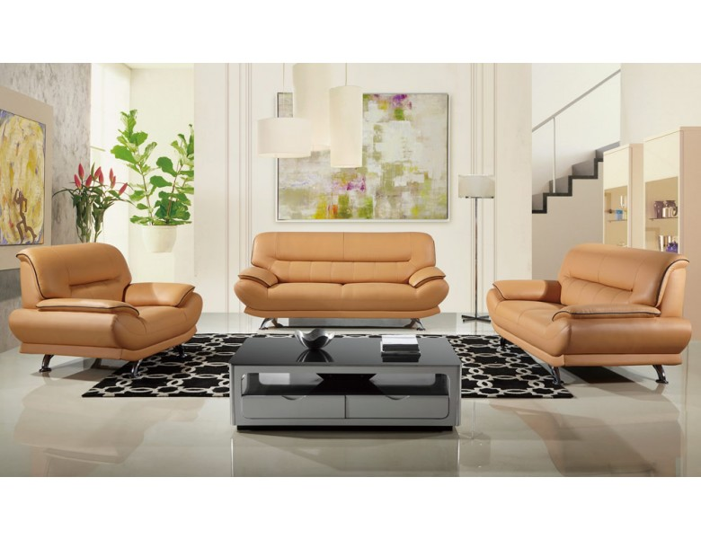 Bella Modern Genuine Leather Sofa