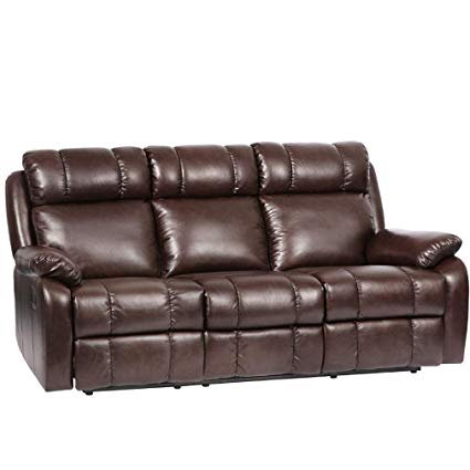 Amazon.com: Recliner Sofa Leather Sofa Recliner Couch Home Theater
