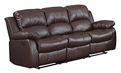 Use quality leather couch with   recliners for interior decor