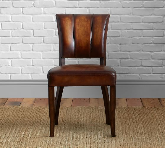 Elliot Leather Dining Chair | Pottery Barn