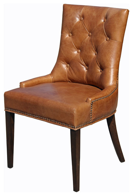 Top Grain Leather Dining Chair - Traditional - Dining Chairs - by