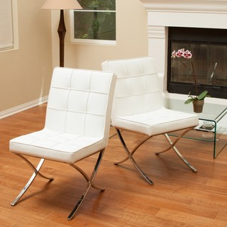 Buy White, Leather Kitchen & Dining Room Chairs Online at Overstock