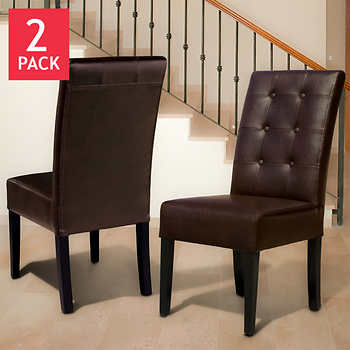 Dining Chairs Costco Pertaining To Room Leather Design 5
