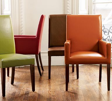 Different Atmosphere with Leather Dining Room Chairs | Dreamehome