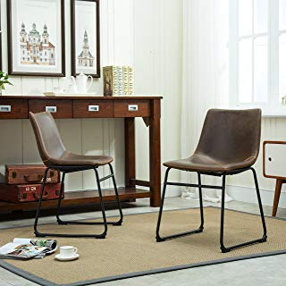Amazon.com: Leather - Chairs / Kitchen & Dining Room Furniture: Home