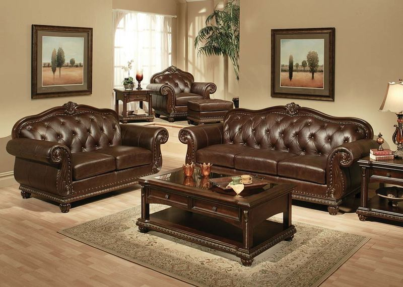 Acme | 15030 Anondale Formal Leather Living Room Set | Dallas
