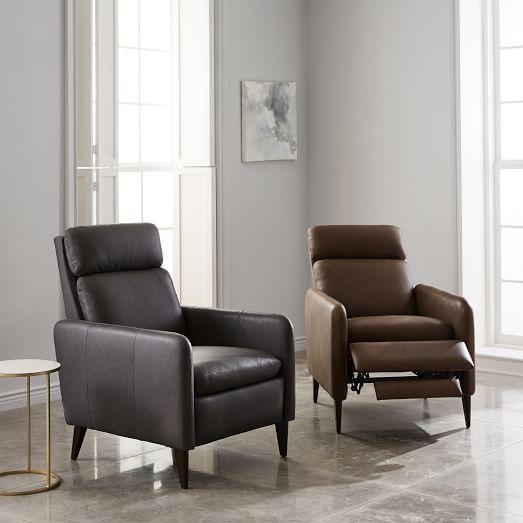 Lewis Leather Recliner | west elm