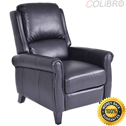 Amazon.com: COLIBROX--Leather Recliner Accent Chair Push Back Living