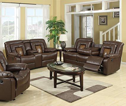 Amazon.com: GTU Furniture Cobra Pu-Leather Reclining Sofa Loveseat